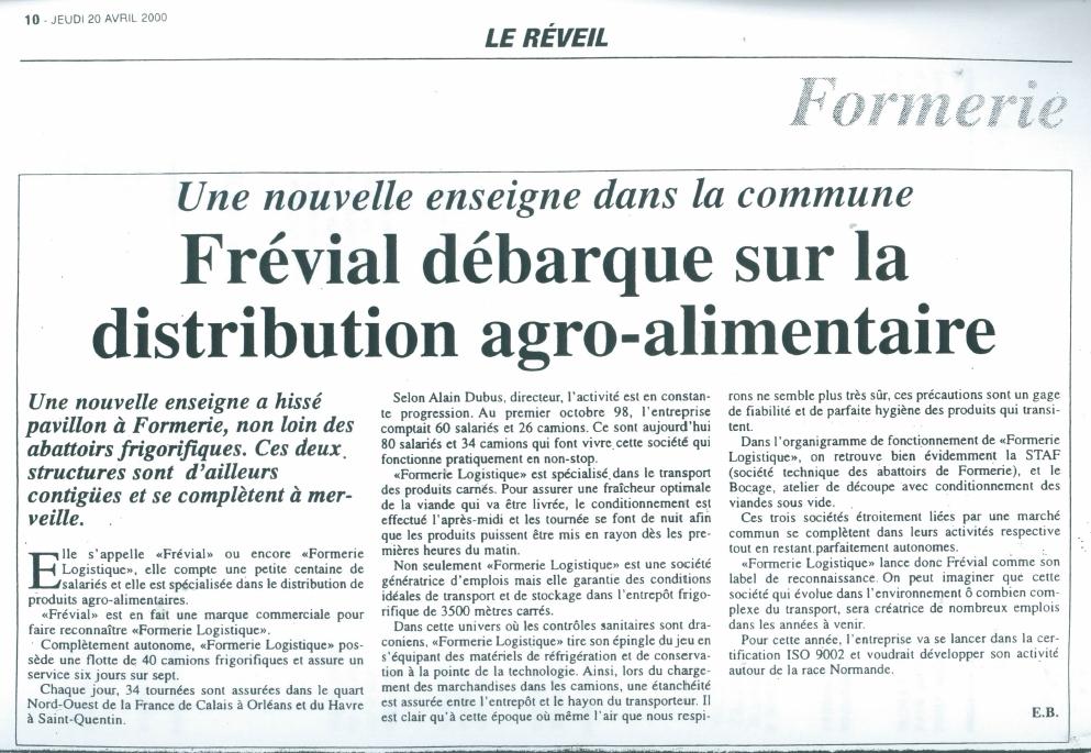 Presse - Le Réveil Avril2000