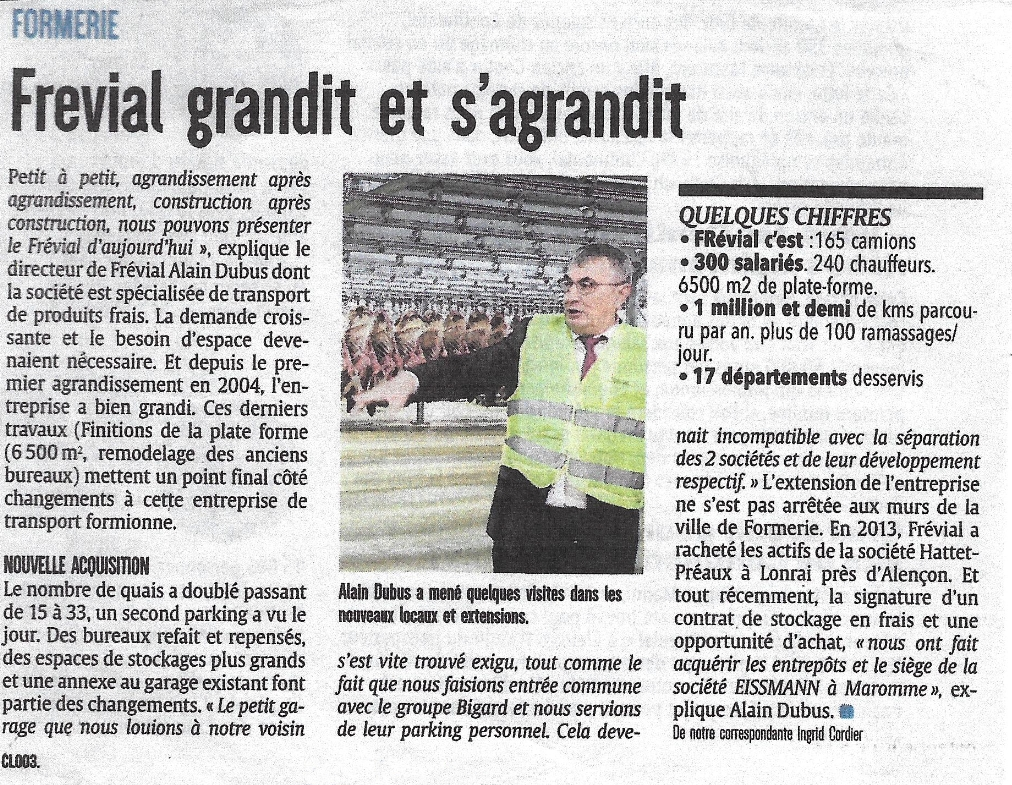 Frevial - Courrier Picard 01oct2016