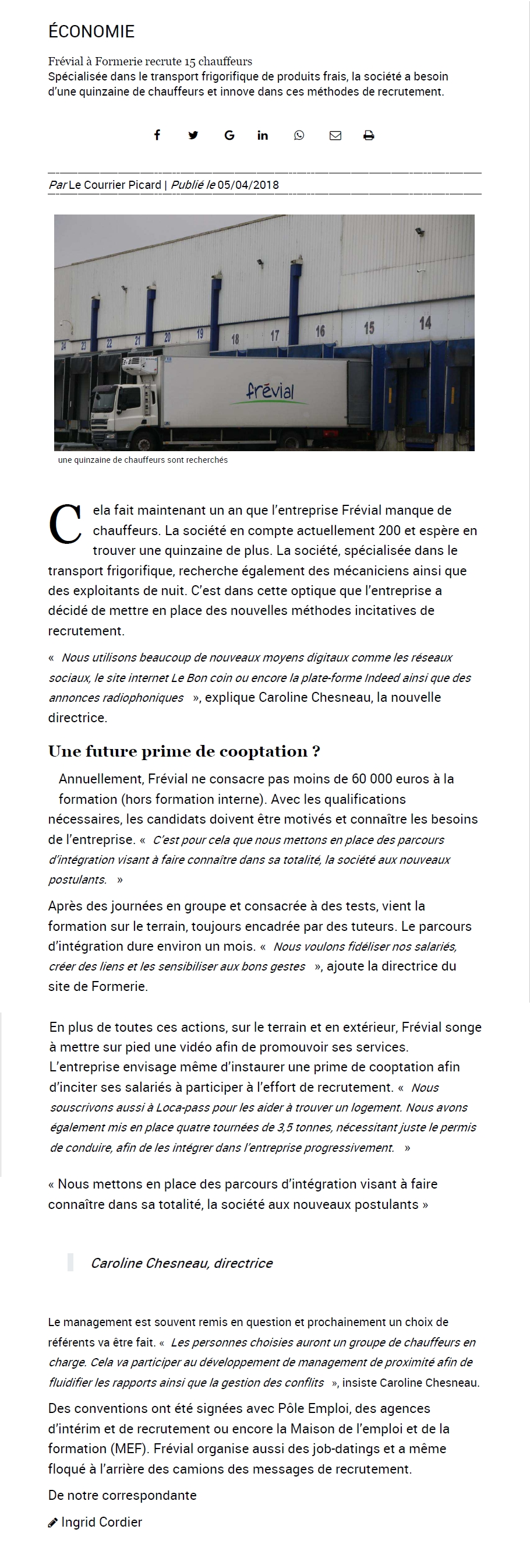 Frevial - Courrier Picard 05avr2018